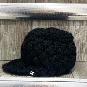 DC Shoes Chunky Knit Winter Hat with Visor Black